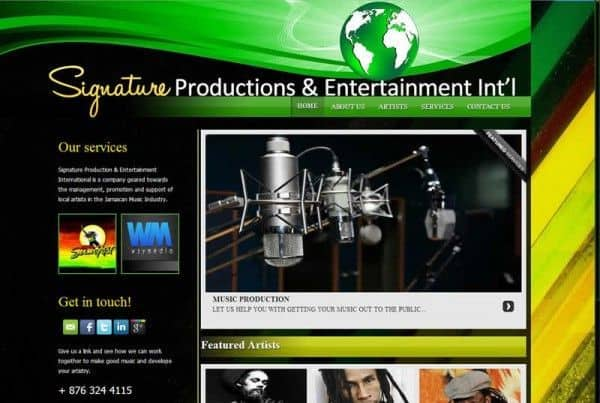 signature productions jamaica home page