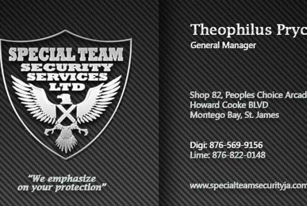 Special Team Security Services Business Card